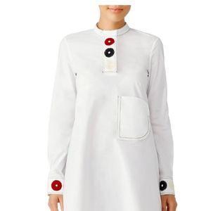 DEREK LAM  White Embroidered Shirtdress  Sz 2